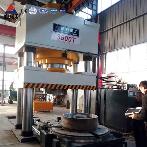 3600吨三梁四柱液压机(YW32-3600T)四柱压力机
