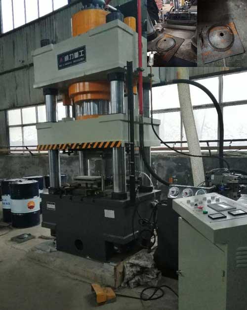 500吨全自动锚杆托盘液压机生产线